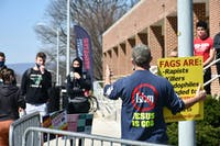Students interacted with the campus visitors throughout the day.