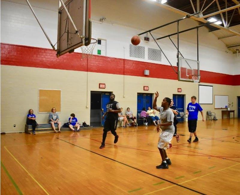 Inclusive basketball is open to students and community members with different skill levels.