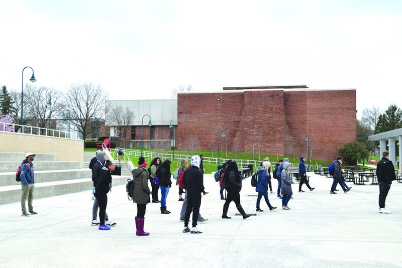 By the end of the privilege walk, which was organized by FDI Chair Miranda White, students were scattered across the Ceddia Union Building amphitheater.