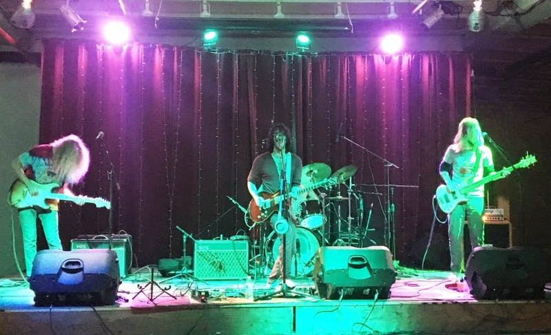 The Thought Lot welcomed a new colorful, grunge atmosphere with performances from Thieves & Lovers, The Vanity Circuit (below) and Medusa's Disco (above) on Saturday evening