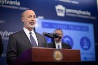 Pennsylvania Gov. Tom Wolf gives updates daily about the impact of the coronavirus in the state.