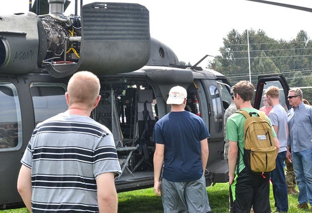 ROTC Displays High-Speed Presentation During Cadet For a Day