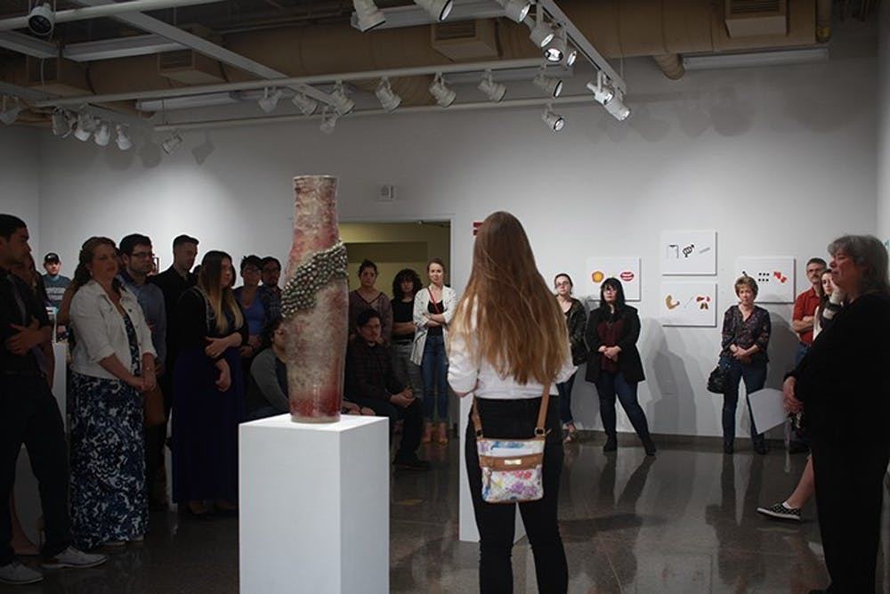 Art and design majors kick off senior exhibits