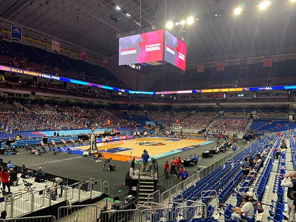 The Alamodome in San Antonio, Texas, will host the Final Four matchup between No. 1 South Carolina and No. 1. Stanford.