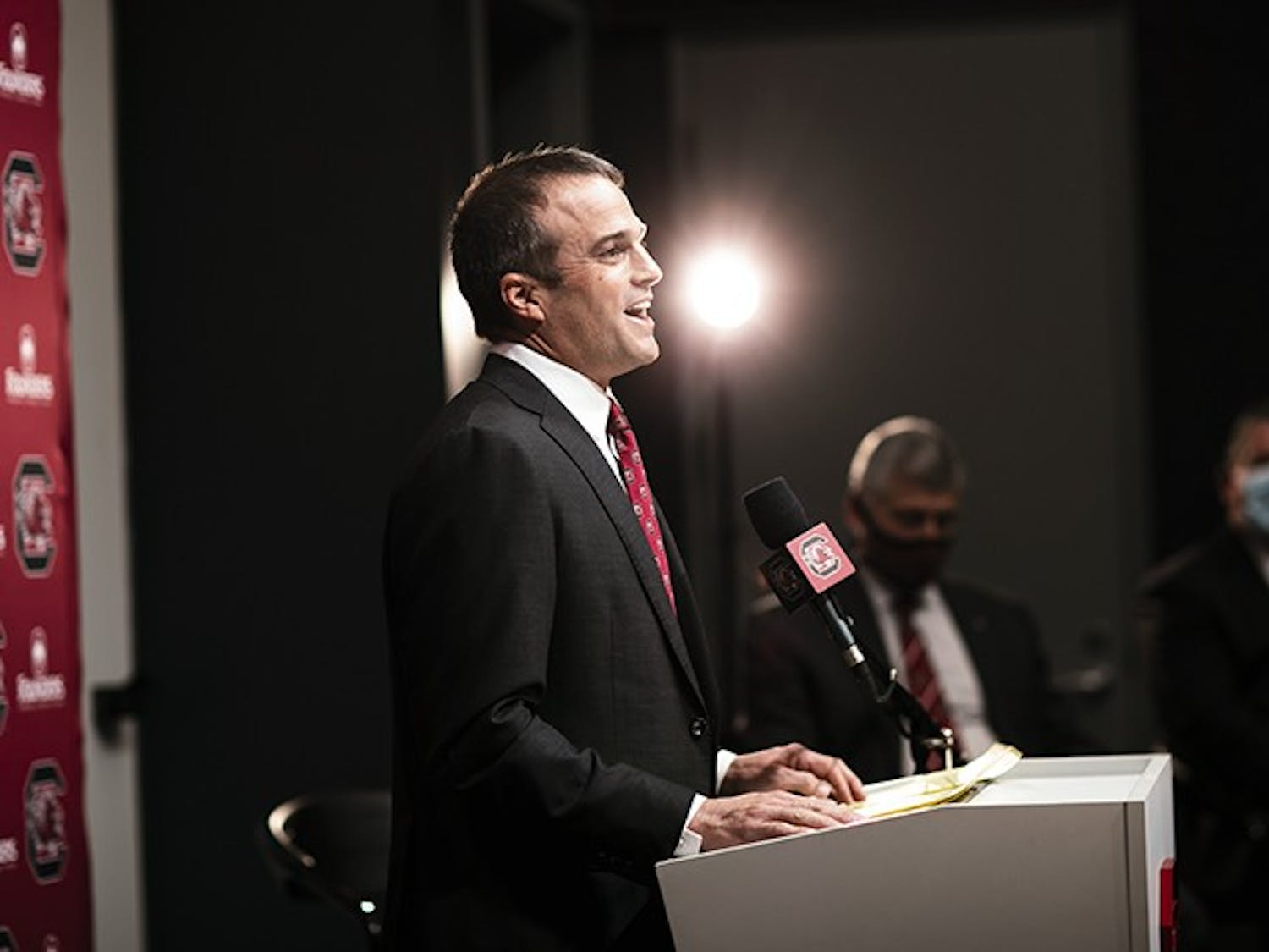 Head coach Shane Beamer said Wednesday that December's signing class is the first step in the recruiting process for South Carolina.