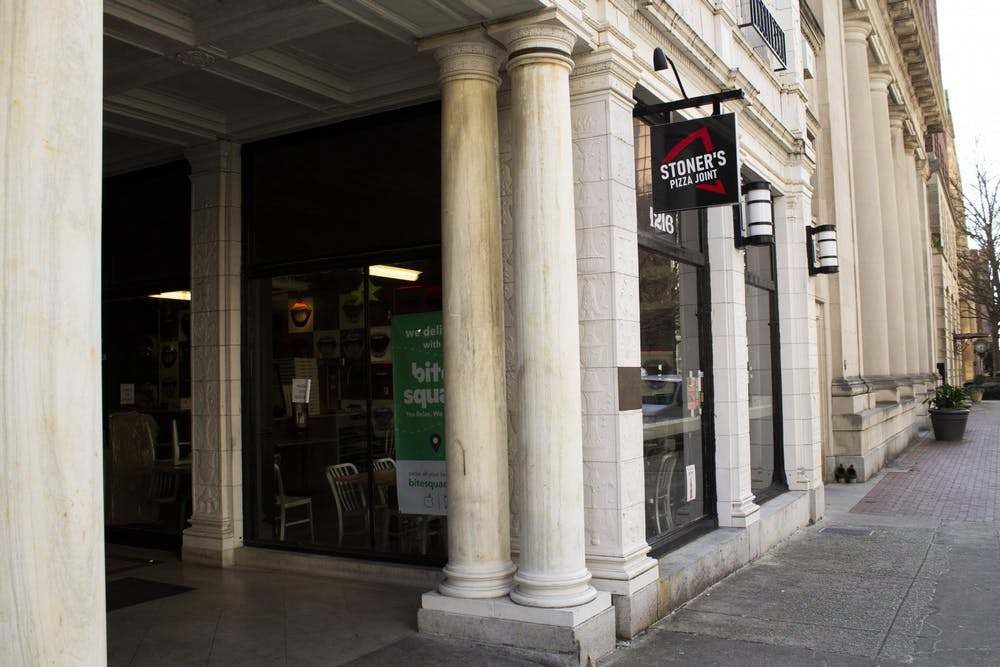 <p>Located at 1216 Washington St. inside The Arcade, Stoner's Pizza Joint is a mom-and-pop shop turned franchise that turns out pizza with fresh ingredients.</p>