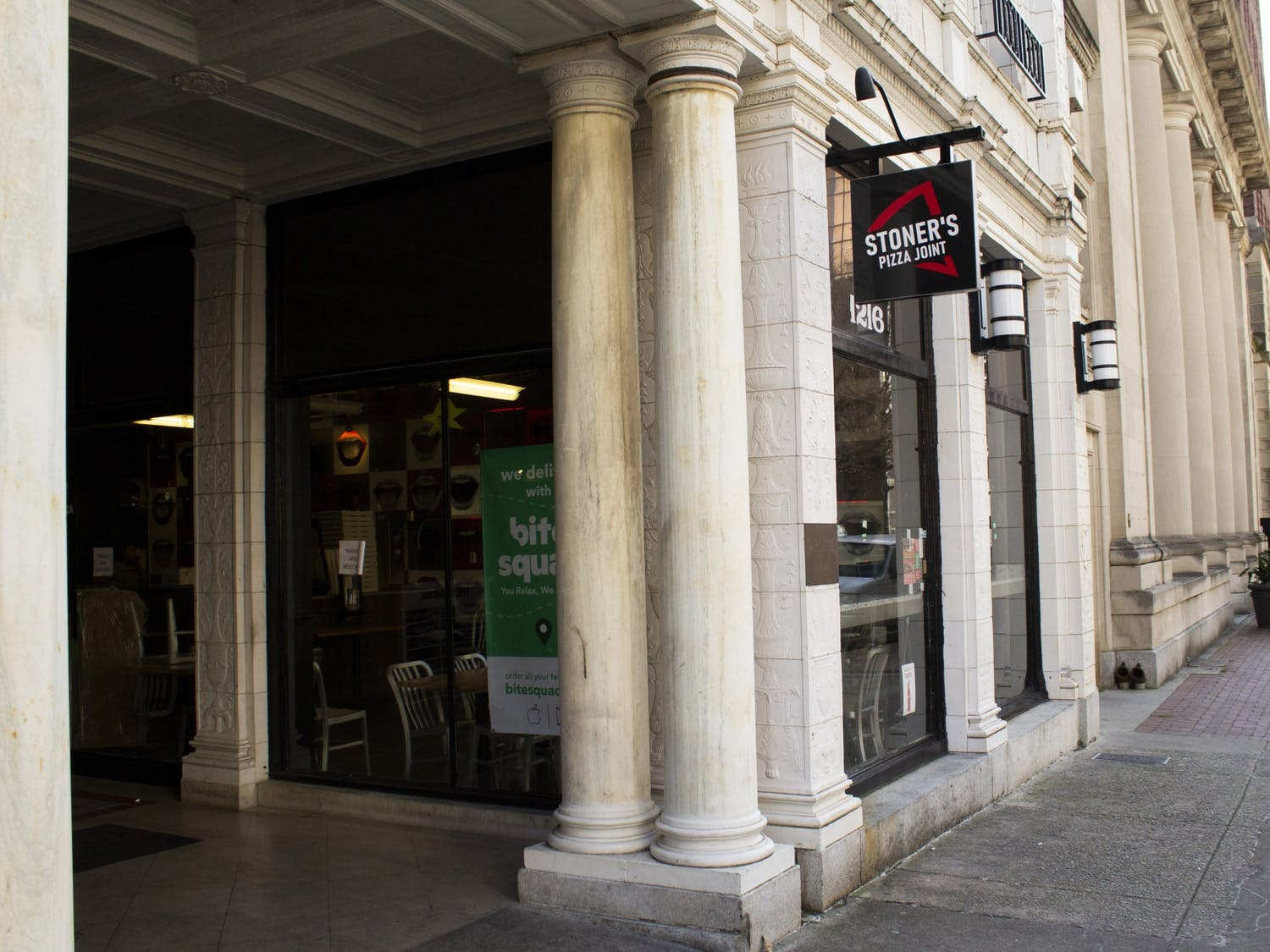 Located at 1216 Washington St. inside The Arcade, Stoner's Pizza Joint is a mom-and-pop shop turned franchise that turns out pizza with fresh ingredients.