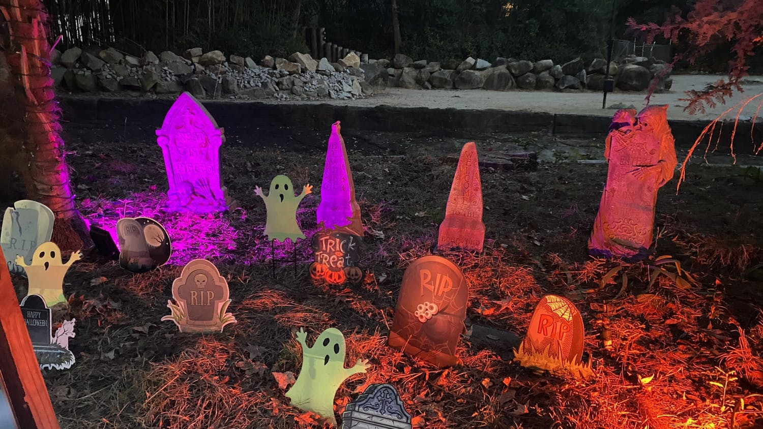 Decoration of a graveyard at Riverbanks Zoo during the 11-night long Halloween-themed event, Boo at the Zoo.