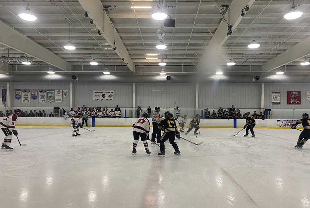 <p>The Gamecock club hockey team plays Kennesaw State on Sept. 17, 2021. The Gamecocks won with the final score of 7-2.</p>