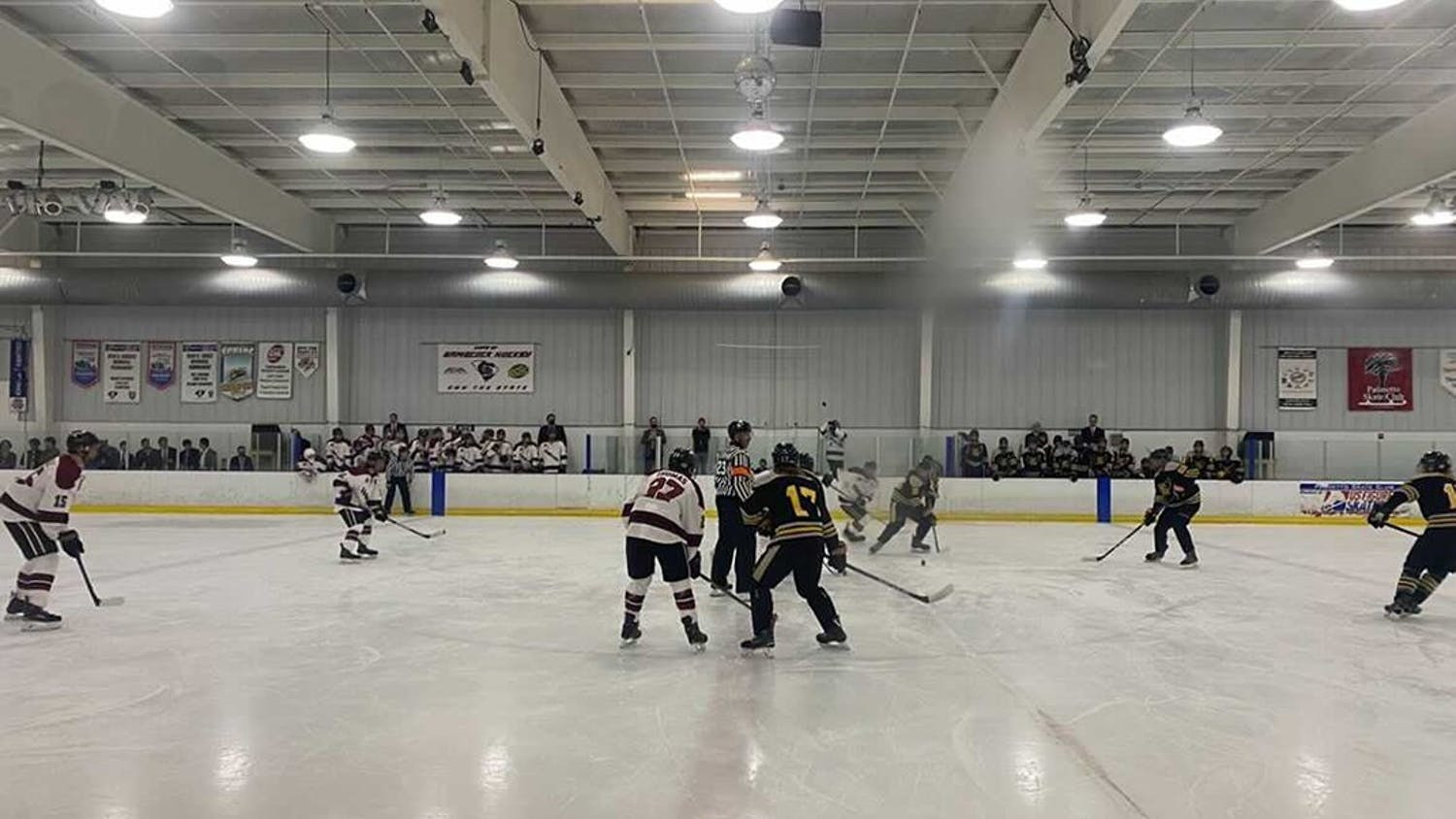 The Gamecock club hockey team plays Kennesaw State on Sept. 17, 2021. The Gamecocks won with the final score of 7-2.