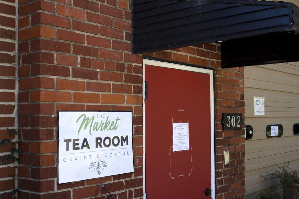 The Market Tea Room sits hidden in a back corner off Senate Street. It is reopening Oct. 7.