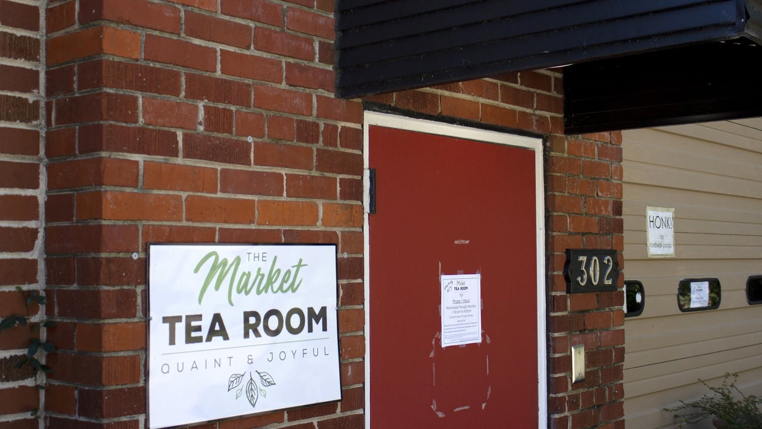 The Market Tea Room sits hidden in a back corner off Senate Street. It is reopening Oct. 7.