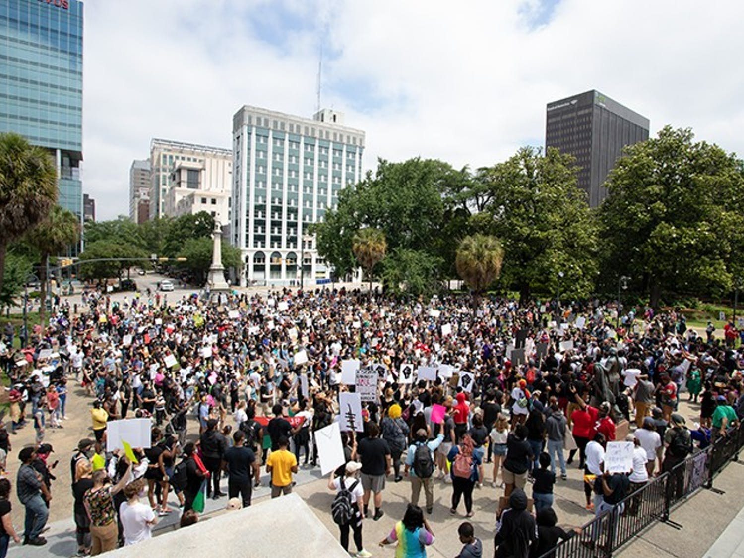 """""""I Can't Breathe"""" protesters gathered at the Statehouse after marching from City Hall."""