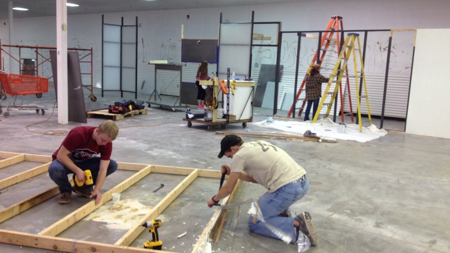 The Habitat for Humanity ReStore benefited from student laborers painting and building shelves on Monday.