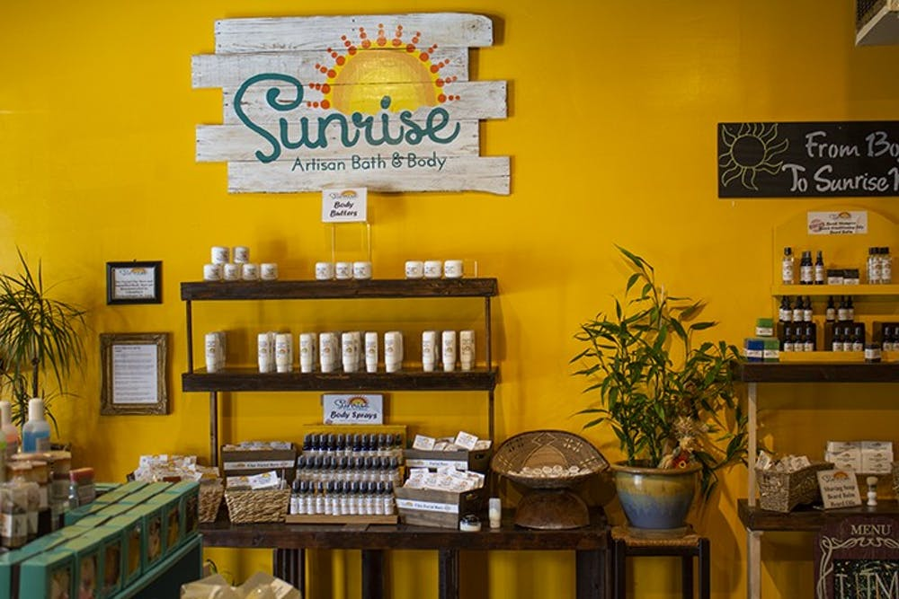 Sunrise Artisan Bath and Body, located in Five Points, has a range of body care items for sale, such as body sprays and body butters, all created by artisan Tzima Brown.