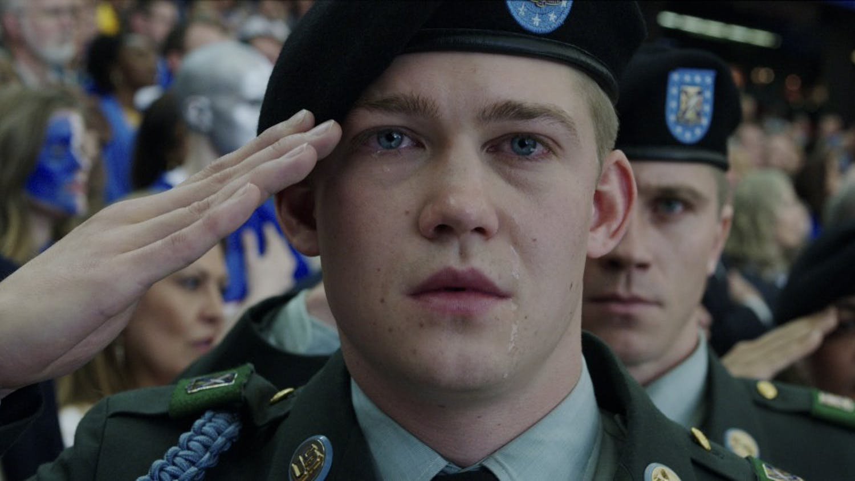 Billy Lynn (Joe Alwyn) in TriStar Pictures' BILLY LYNN'S LONG HALFTIME WALK.