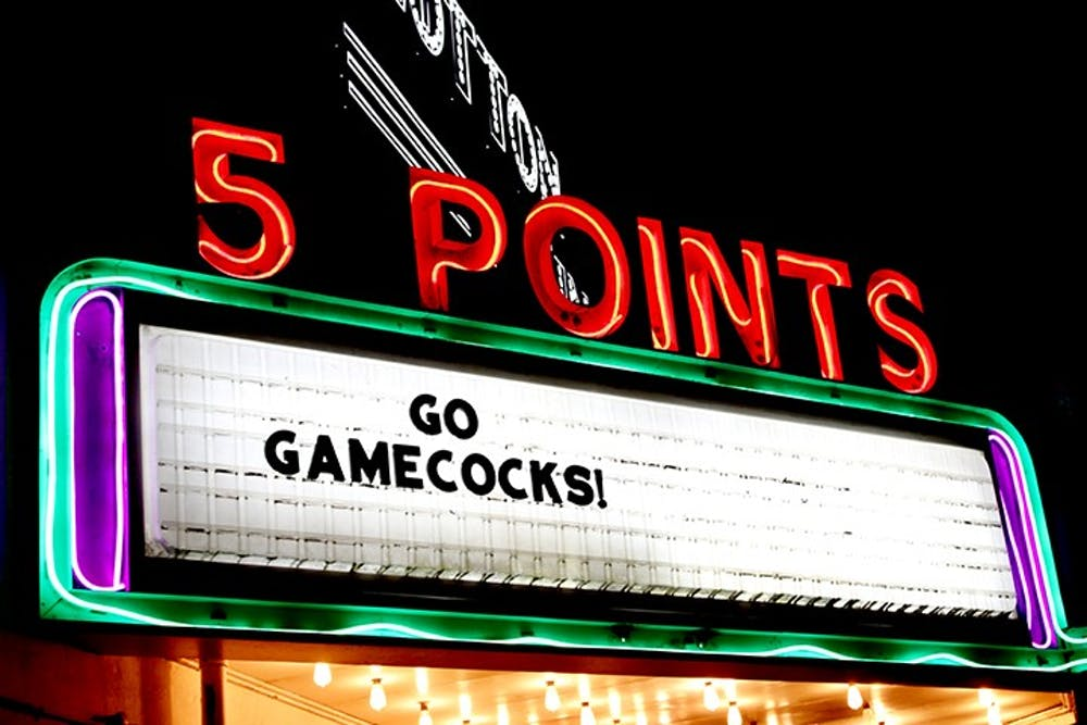 Five Points is a popular nightlife area for local USC students.