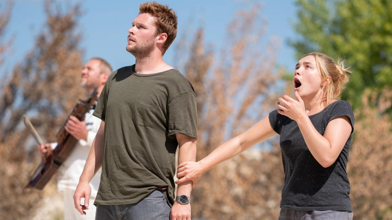 """Florence Pugh and Jack Reynor in """"Midsommar."""" MUST CREDIT: Gabor Kotschy, A24"""
