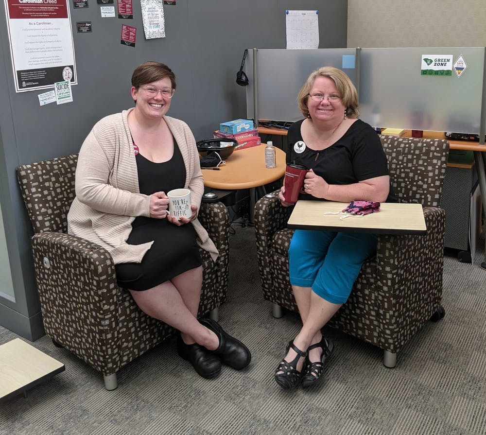 Kat James (left), coordinator of Gamecock Recovery and Aimee Hourigan (right), director of Gamecock Recovery.