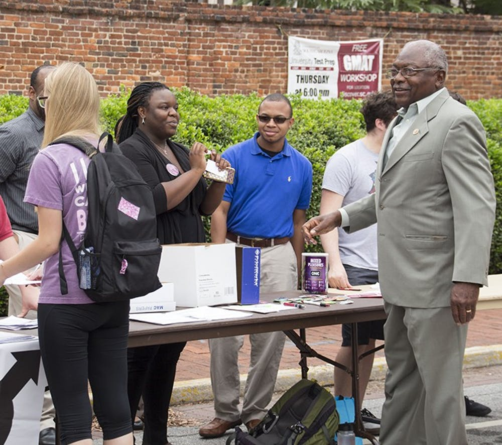 <p>Long-timeSouth Carolina Rep.James Clyburn attended the Voter Registration Initiative.</p>