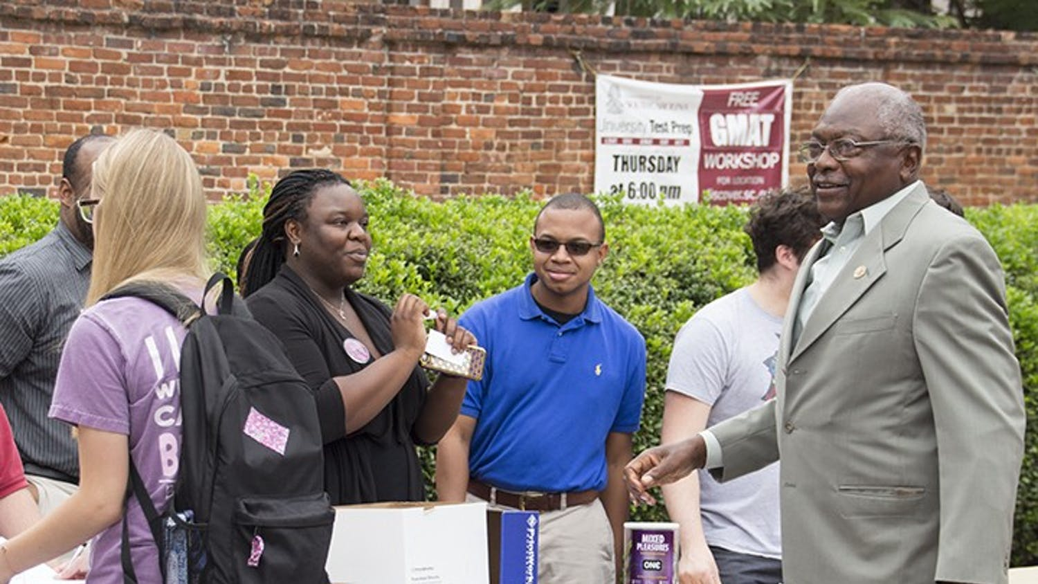 Long-timeSouth Carolina Rep.James Clyburn attended the Voter Registration Initiative.
