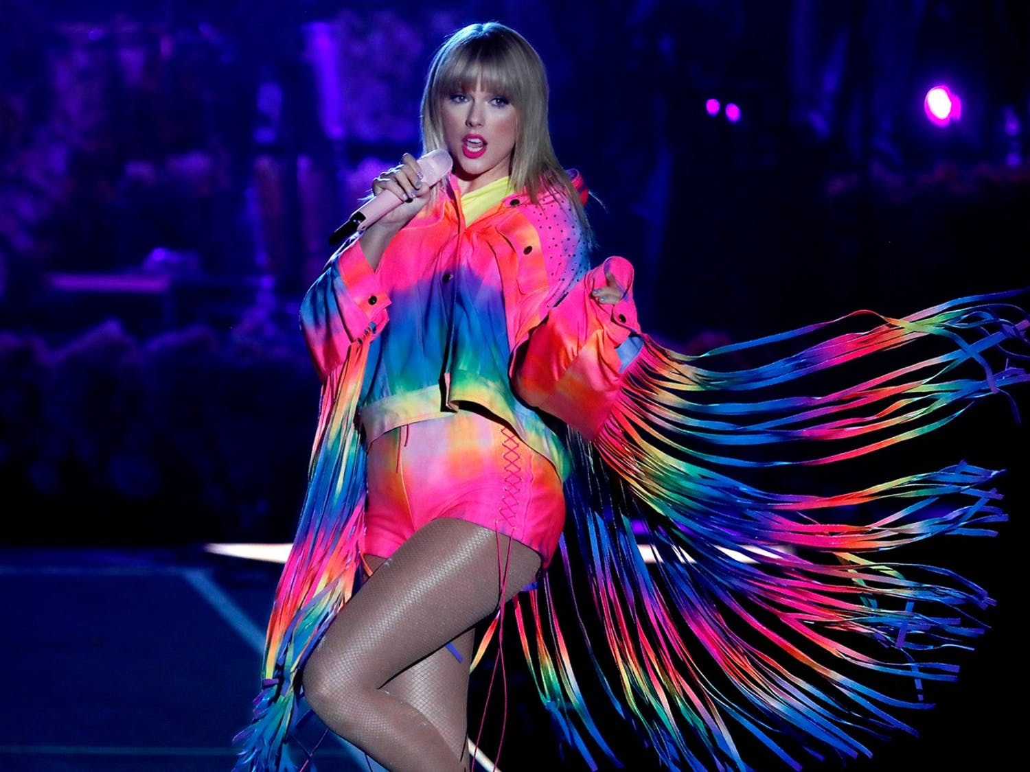Taylor Swift performs at Wango Tango 2019 at the Dignity Health Sports Park in Carson, Calif. on June 1, 2019.  (Luis Sinco/Los Angeles Times/TNS)