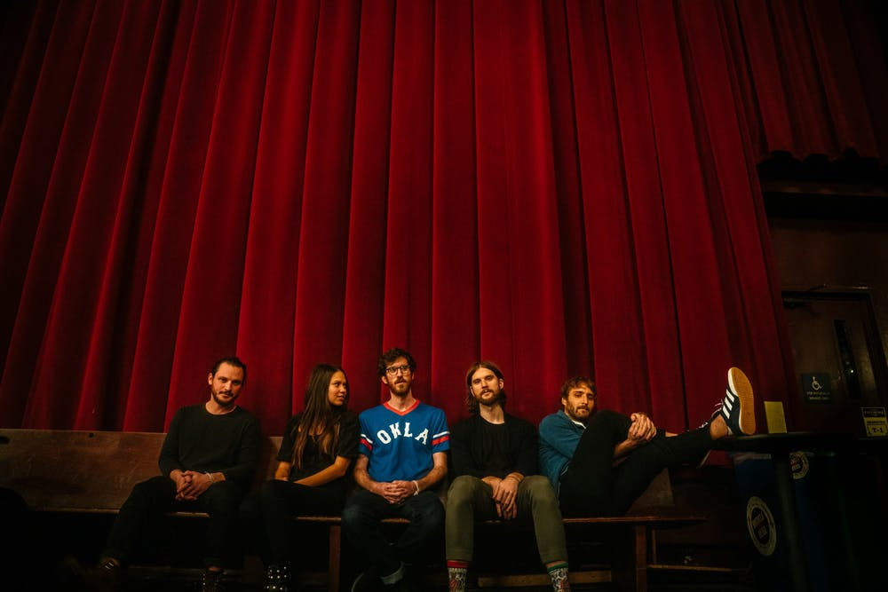 <p>Members of Mt. Joy (from left to right) include Sam Cooper, Jackie Miclau, Michael Byrnes, Matt Quinn and Sotiris Eliopoulos. Mt. Joy is coming to Columbia on May 15 as part of its recently announced tour.</p>