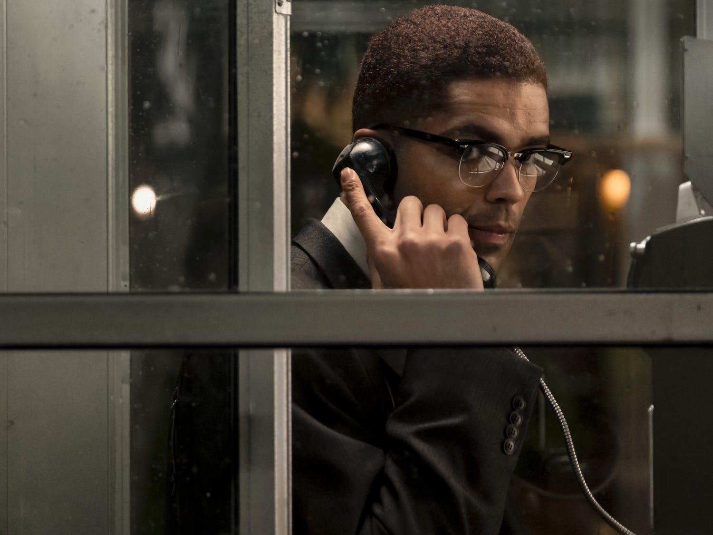 """Malcolm X (Kingsley Ben-Adir) in """"One Night in Miami."""""""
