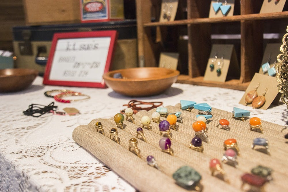 <p>Each vendor at the Indie South Fair had his or her&nbsp;own unique style,&nbsp;ranging from handmade to jewelry to lamps made from various household items.</p>
