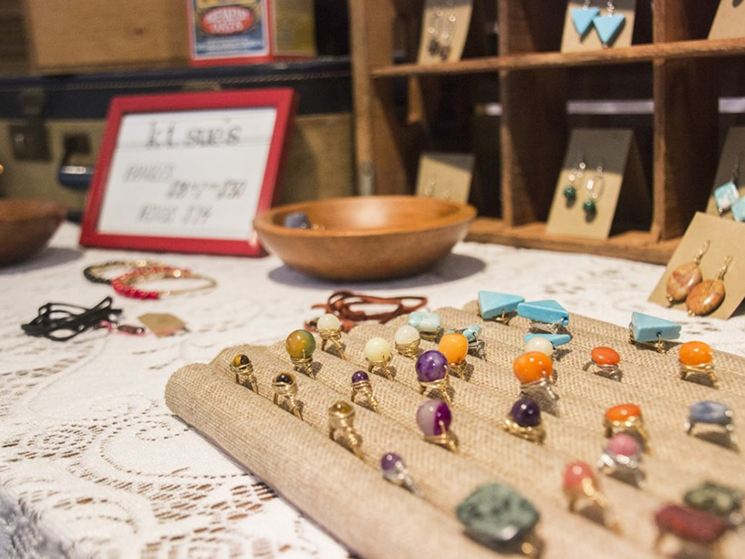 Each vendor at the Indie South Fair had his or herown unique style,ranging from handmade to jewelry to lamps made from various household items.