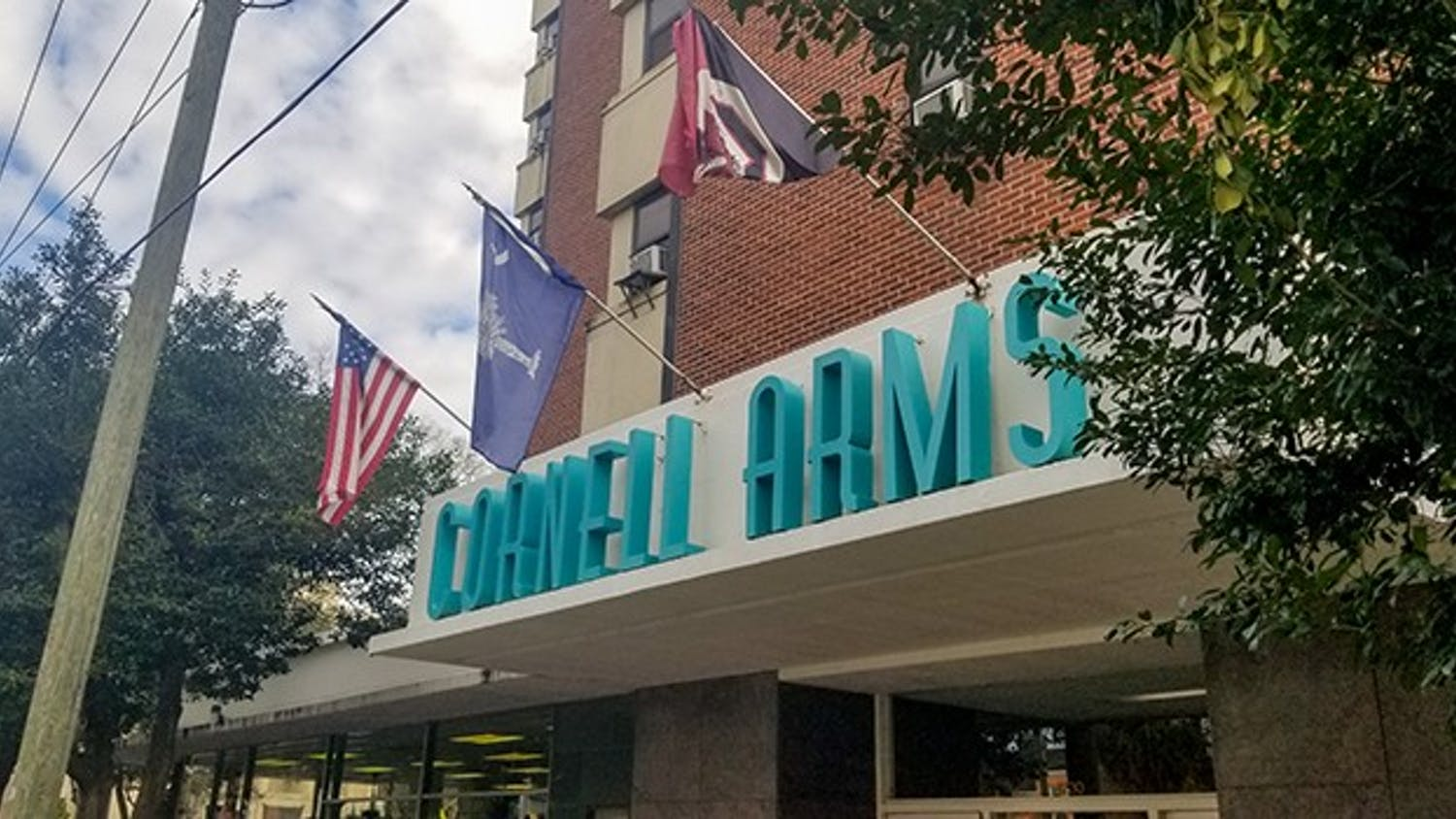 """""""Cornell Arms Apartments is located just a block away from the Horseshoe on Pendleton Street. The building houses a mix of students, non-students and families."""""""