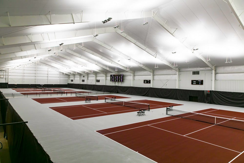 <p>The new South Carolina Indoor Tennis Center was unveiled in a ceremony on Friday. The 55,000 square foot facility allows players to compete year-round on one of six courts, with locker rooms and an athletics training space. &nbsp;</p>