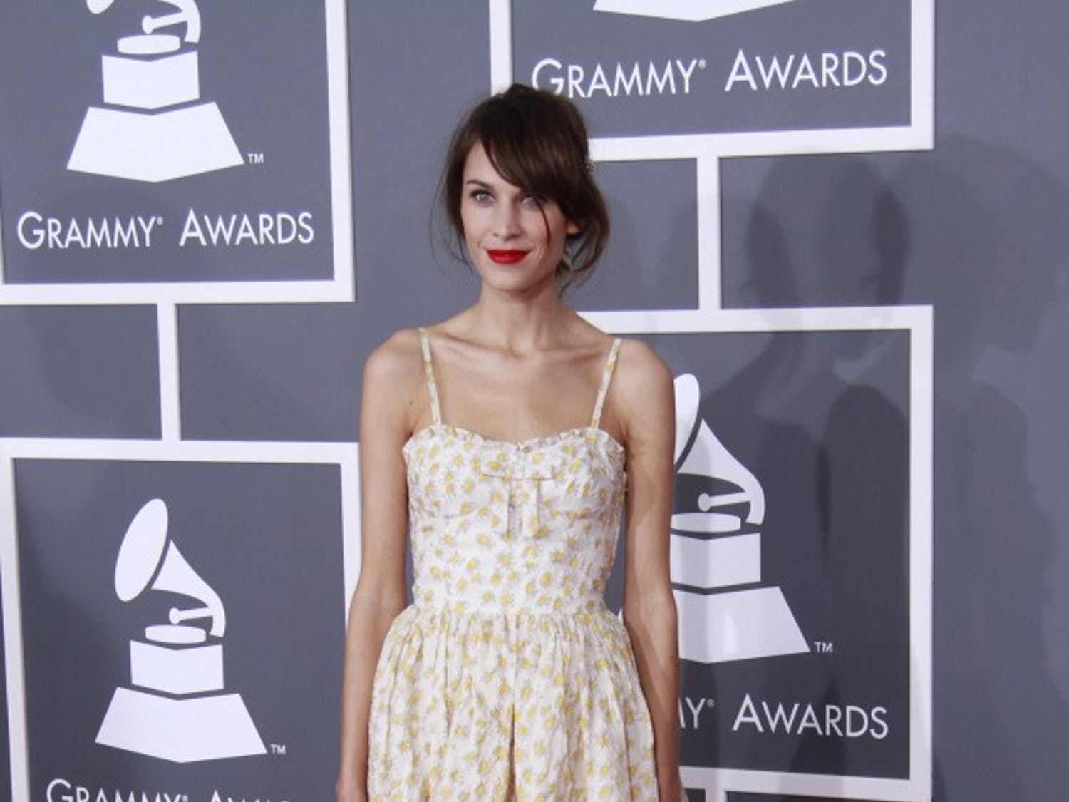 Alexa Chung arrives for the 55th Annual Grammy Awards at Staples Center in Los Angeles, California, on Sunday, February 10, 2013. (Kirk McKoy/Los Angeles Times/MCT)