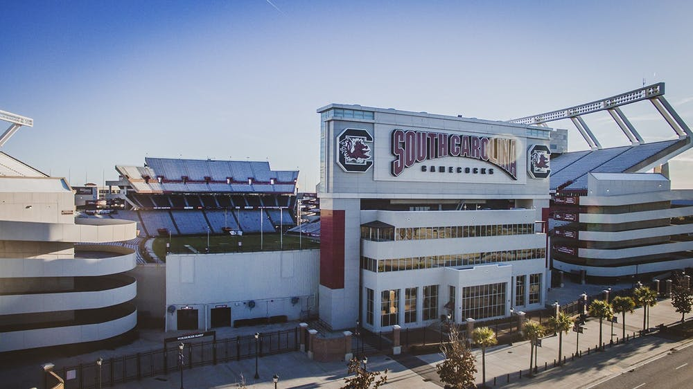 <p>Williams-Brice Stadium sits only minutes from the University of South Carolina campus.</p>