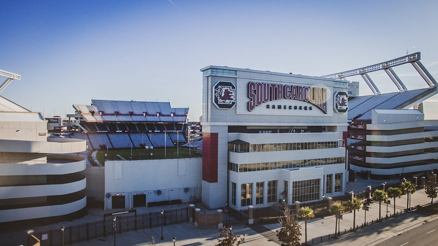 Williams-Brice Stadium sits only minutes from the University of South Carolina campus. Shane Beamer has been named the new head football coach of the Gamecocks.