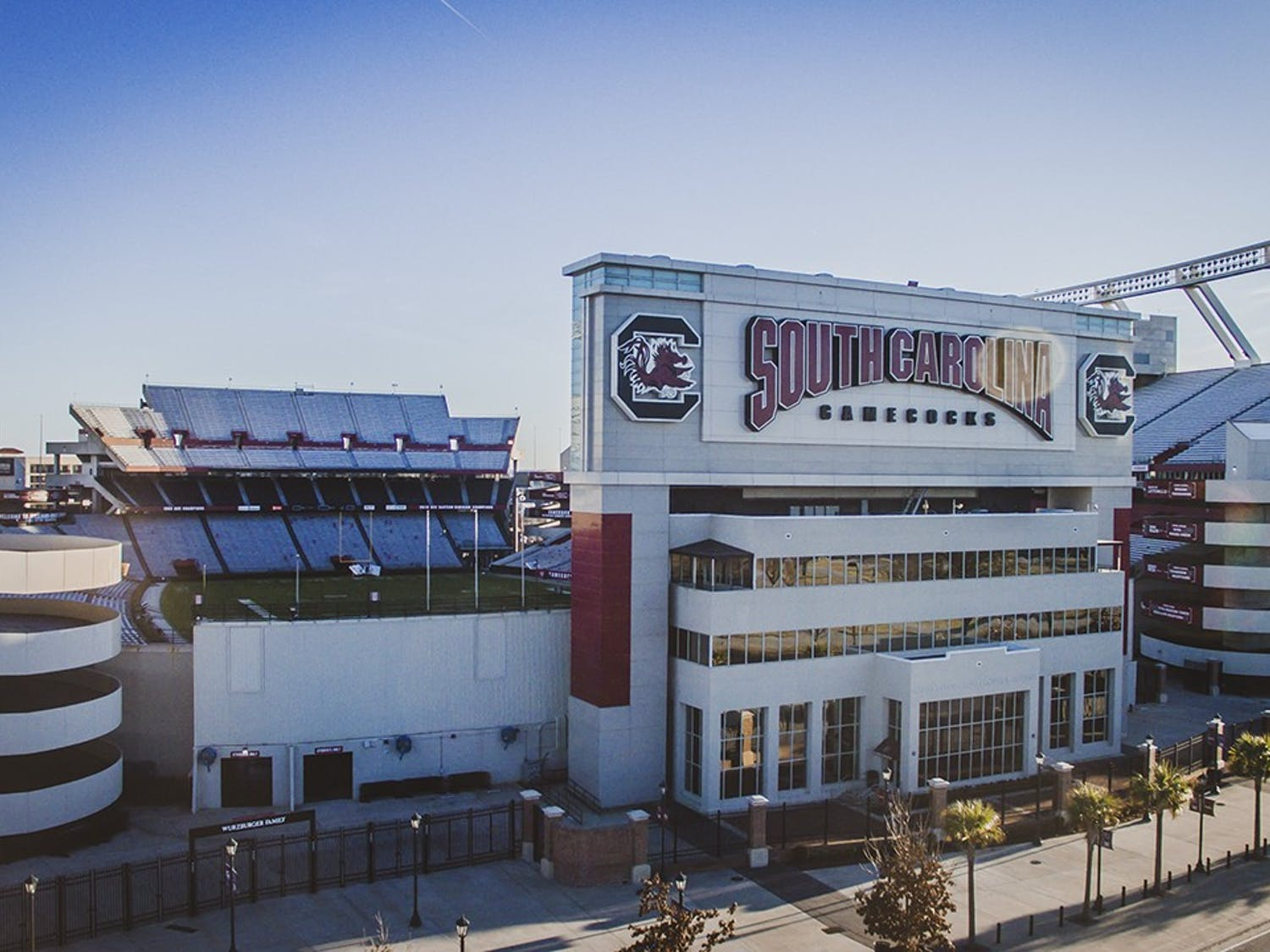 Williams-Brice Stadium sits only minutes from the University of South Carolina campus.