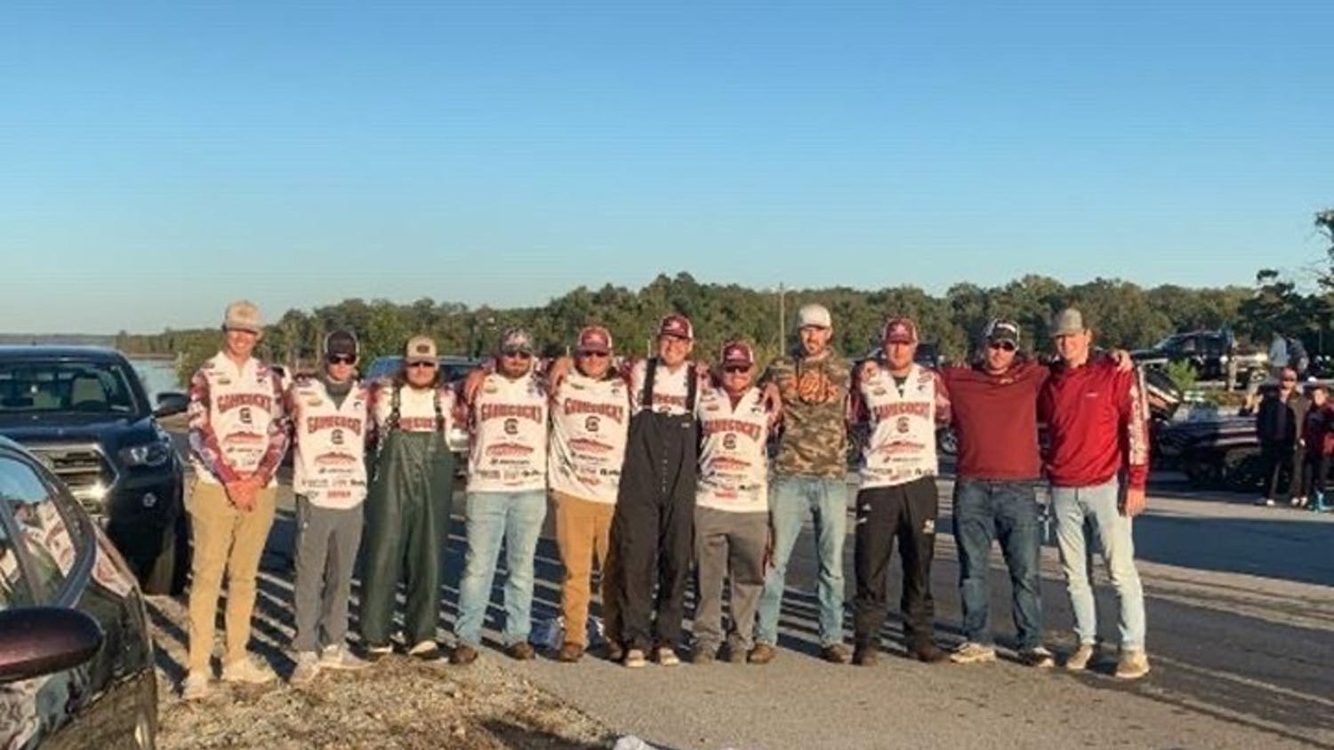 The USC Anglers team poses for a group photo.