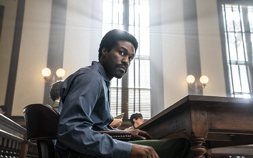 "Yahya Abdul-Mateen II plays Bobby Seale in the new movie ""The Trial of the Chicago 7,"" which premiered on Netflix on Oct. 16, 2020."