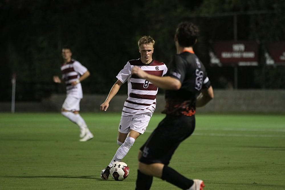 <p>&nbsp;South Carolina men's soccer beat Mercer University 1-0 at the Friday, Oct. 9 match.&nbsp;</p>