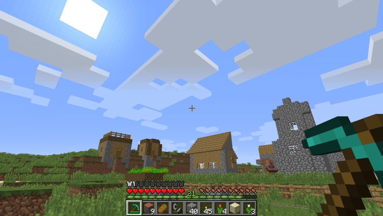 Minecraft's open layout allows for maximum creativity.