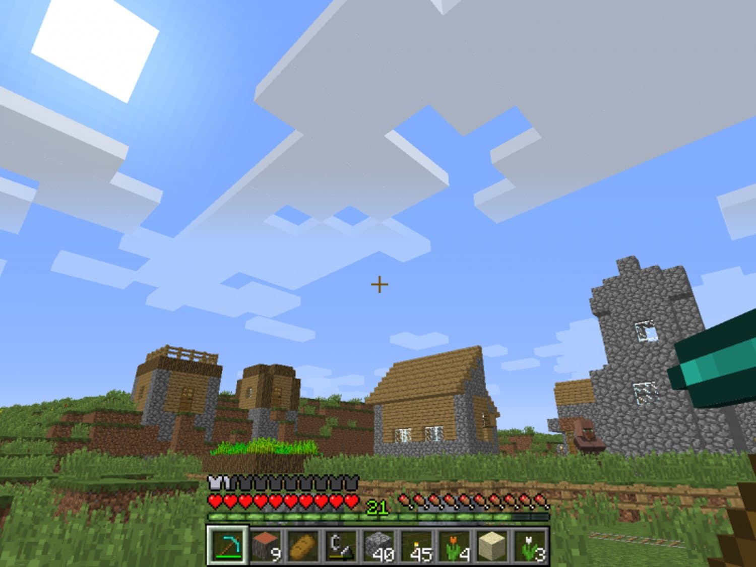 Minecraft's open layout allows for maximum creativity.