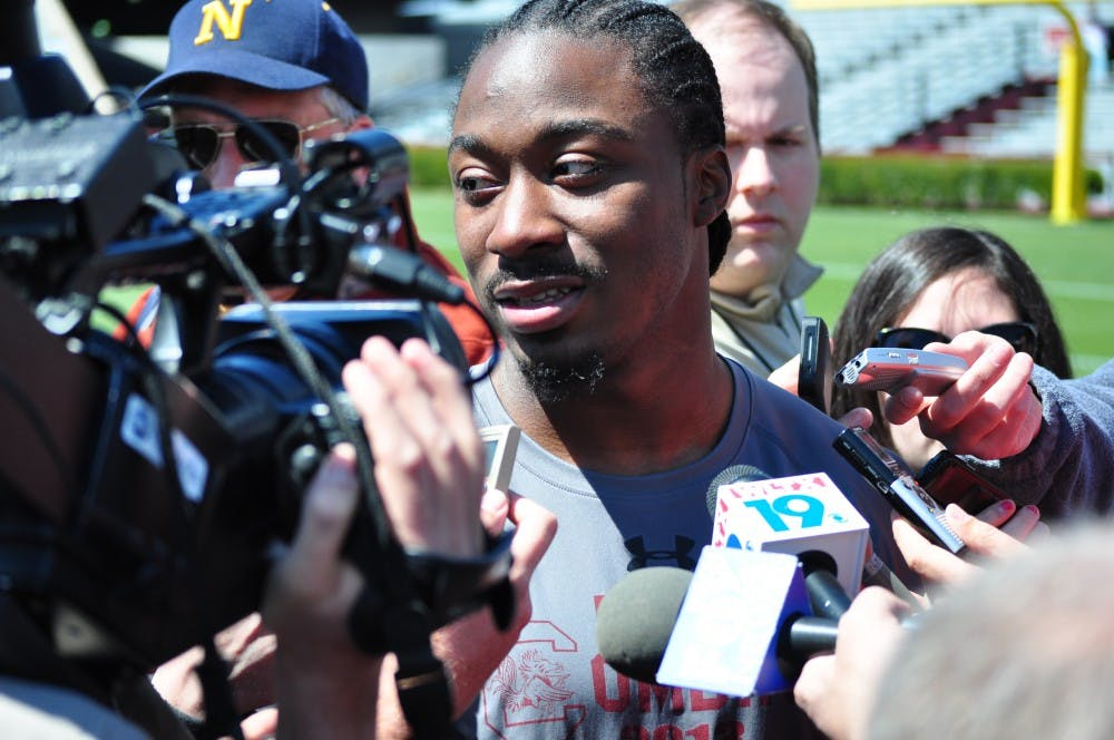 """<p>Former <span class=""""caps"""">USC</span> star tailback Marcus Lattimore said he expects to be ready for the first half of the next <span class=""""caps"""">NFL</span> season</p>"""