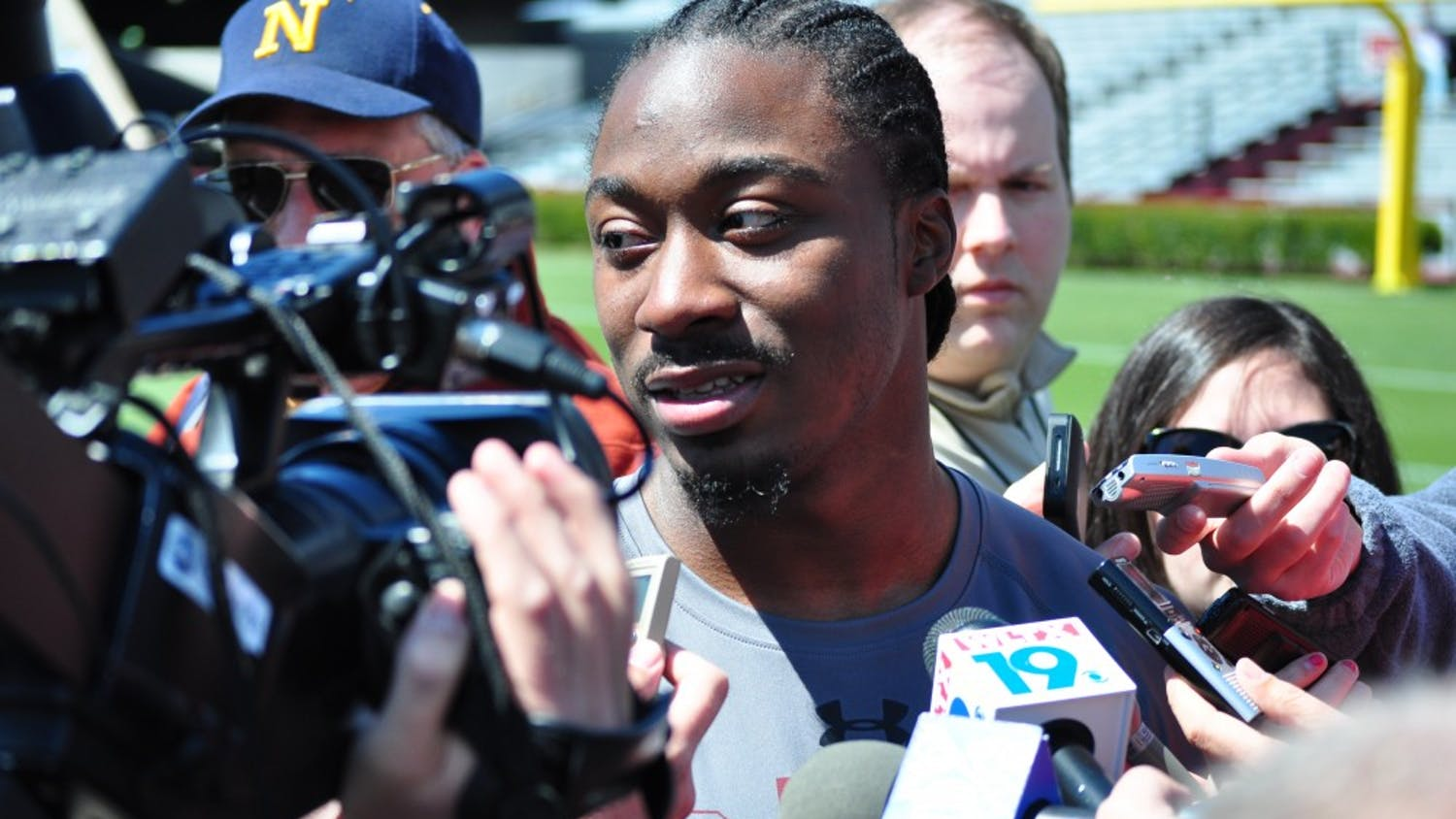 Former USC star tailback Marcus Lattimore said he expects to be ready for the first half of the next NFL season