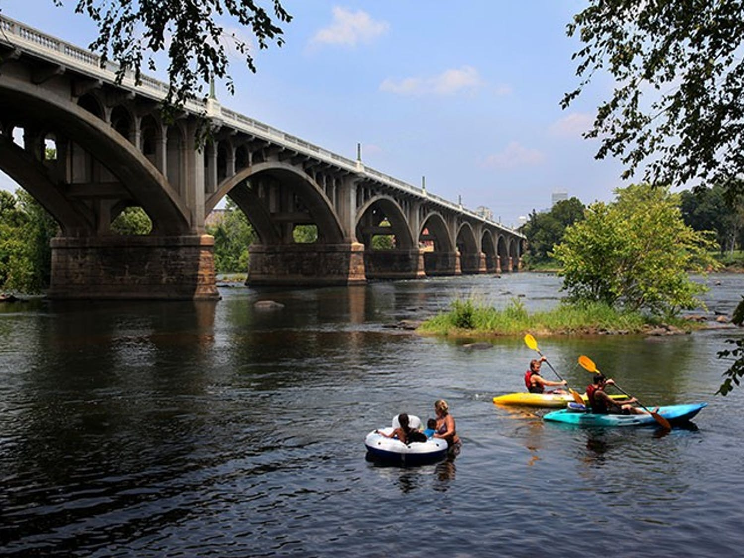 Tubers and kayakers enjoy the Congaree River, Tuesday, July 12, 2011 in Columbia, South Carolina. (Gerry Melendez/The State/MCT)