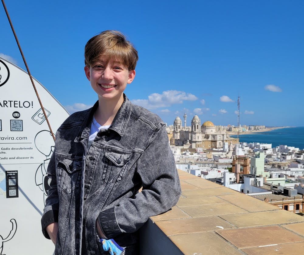 <p>The Daily Gamecock's new editor-in-chief poses for a photo on the rooftop of Torre Tavira in Cádiz, Spain.</p>