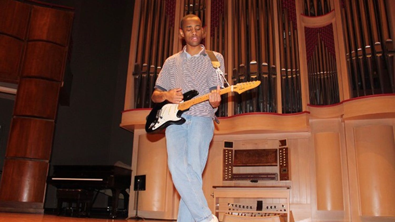 Sanchez Goodjoin performs at the Koger Center for the Arts. Goodjoin is known for his exciting stage presence.