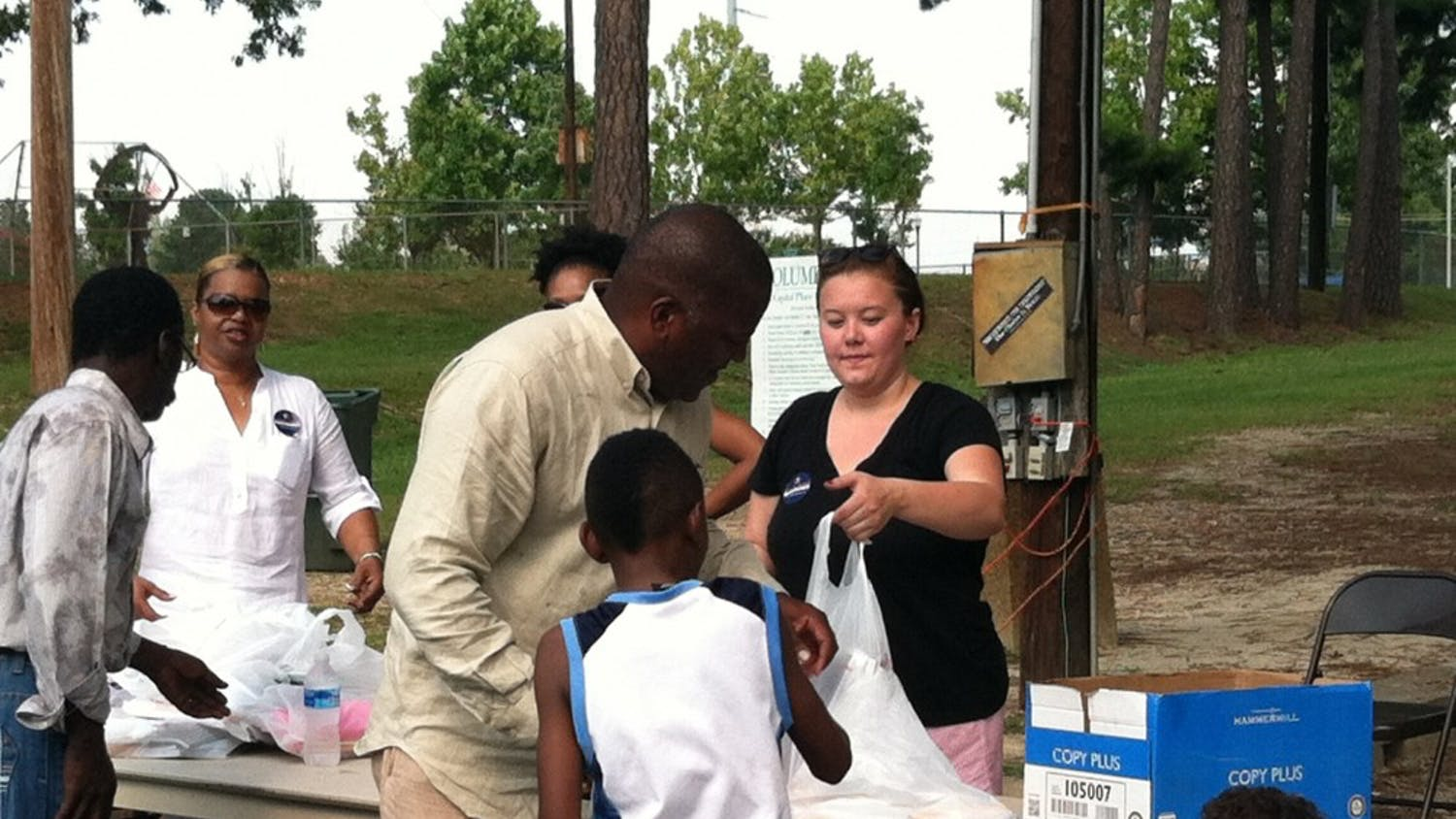 The Hyatt Park Labor Day and back-to-school celebration featured live Gospel music, free food and school supply giveaways.