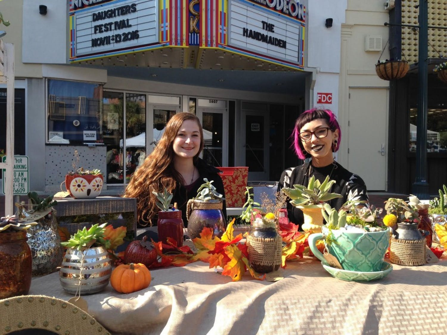 """USC studentJennifer Austin and her business partner Olivia Taylor created """"Gardens of Gaea,"""" a small business that sells potted succulents and cacti."""