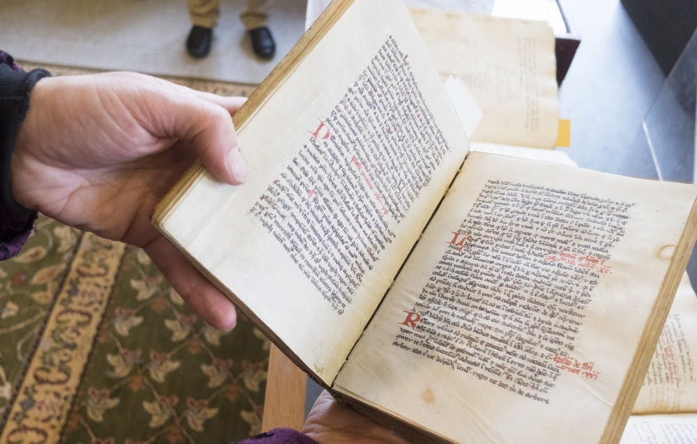 This 13th-century book of philosophy at Lehigh includes illustrations of the tree of life. (Ed Hille/Philadelphia Inquirer/TNS)
