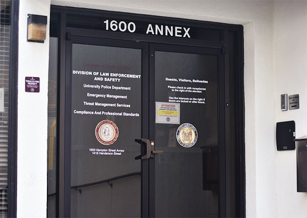 <p>&nbsp;The University of South Carolina Police Department located at the Hampton Street Annex. The department looked into white marks appearing on the cars of students after many social media posts related them to sex trafficking.</p>